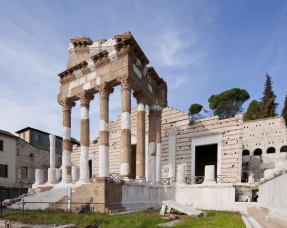 tempio capitolino di via musei a Brescia centro