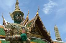 Guardia dei tempi di Bangkok in Thailandia del Nord