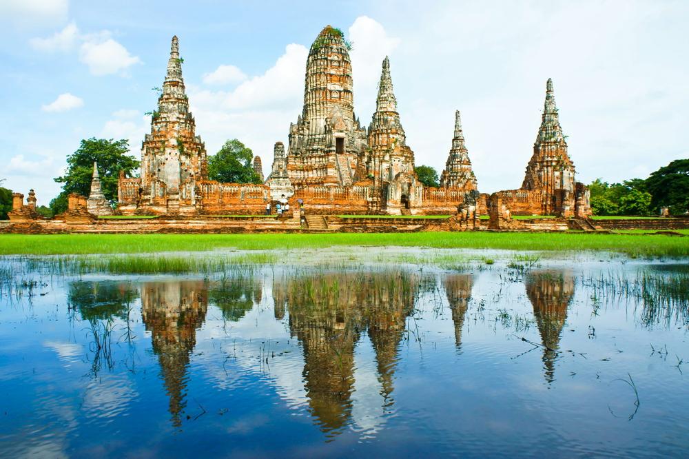 Vista sui Templi di Bangkok