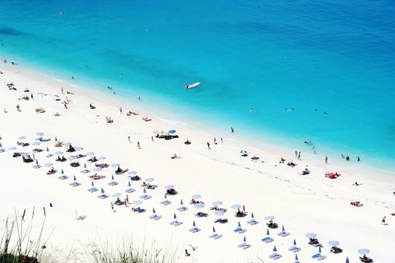 spiaggia myrthos a cefalonia, grecia. ilViaggio.it immagini