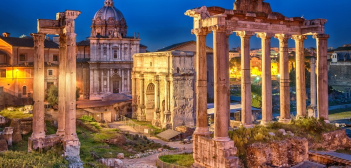 Vista di Roma foro Traiano