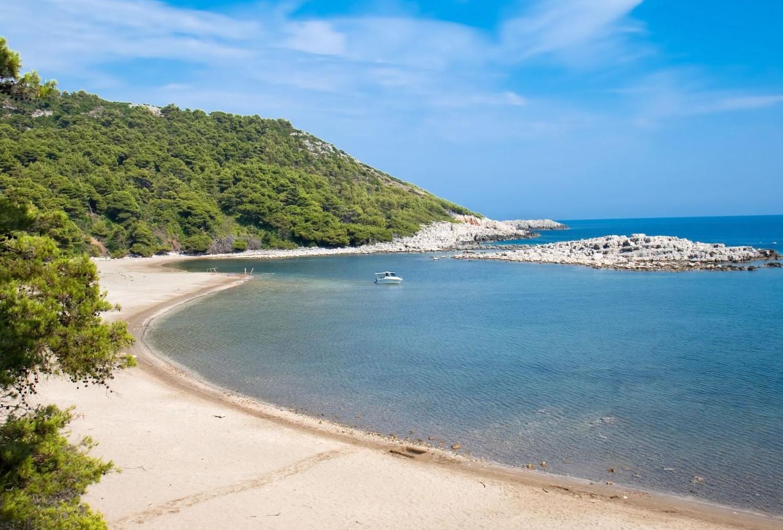 spiaggia sabbia isola di rab
